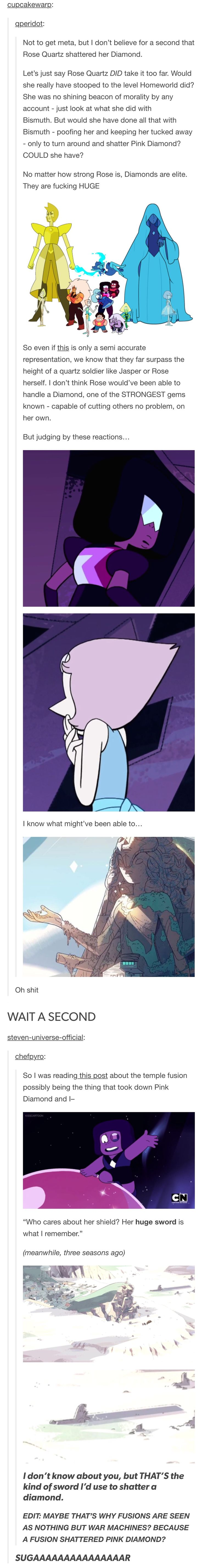 I kinda believe that rose did shatter pink diamond but it is hard to believe