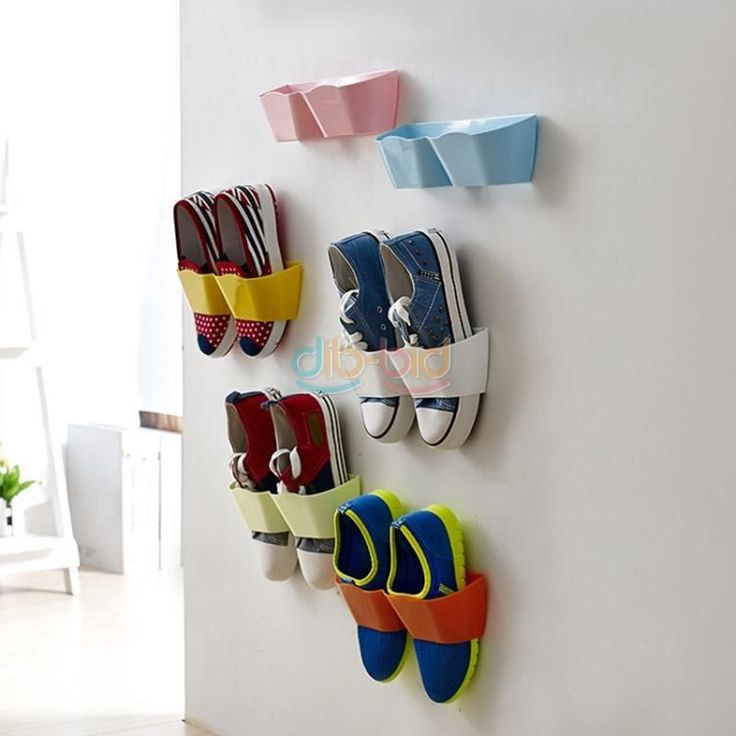 Useful Wall Mounted Sticky Hanging Shoe Organizer Rack Hanger Holder UK ED