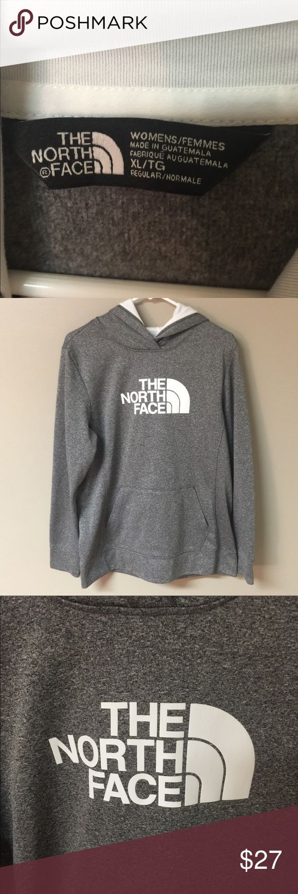 Women's North Face Hoodie Women's North Face Hoodie • only wore once • white & grey in color • size XL The North Face Tops Sweatshirts & Hoodies