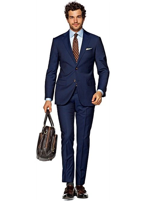Suit Blue Plain Napoli P4271i | Suitsupply Online Store