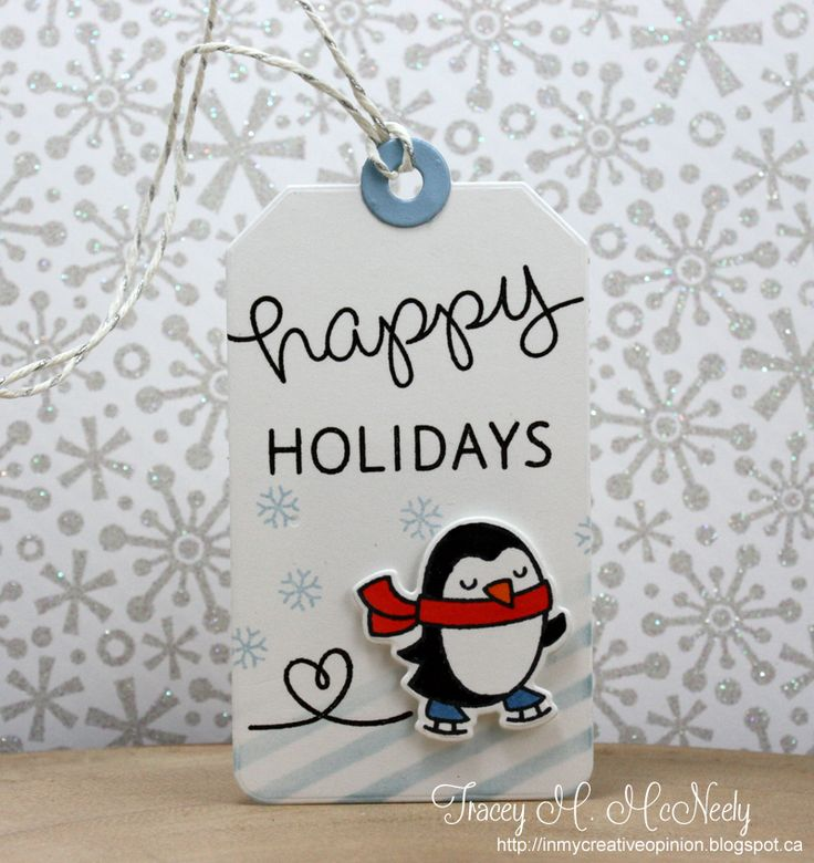So cute! From 25 days of Christmas tags on In My Creative Opinion blog tracey_tag1