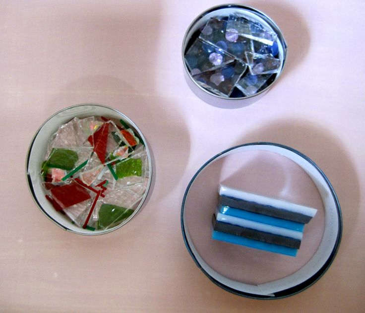Stainless Steel Rings with Glass Before Firing