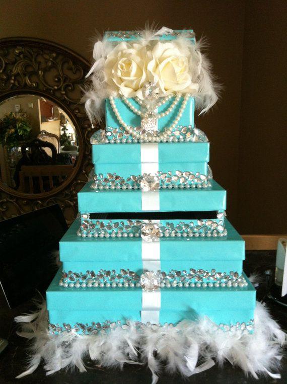 Tiffany blue card box by ShopJadoreDecor on Etsy,