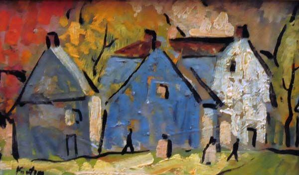 Rang de maisons l'été (c. 1925) - Marc-Aurèle Fortin