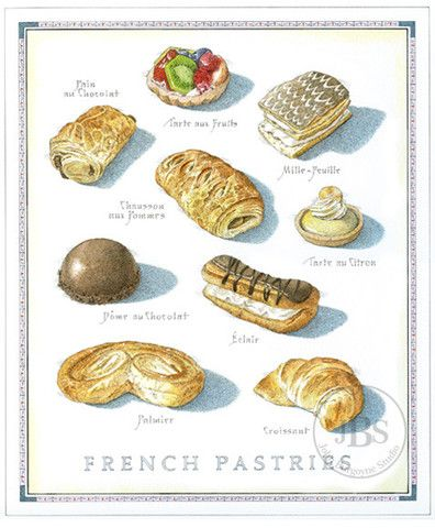 French Pastries - John Burgoyne Studio