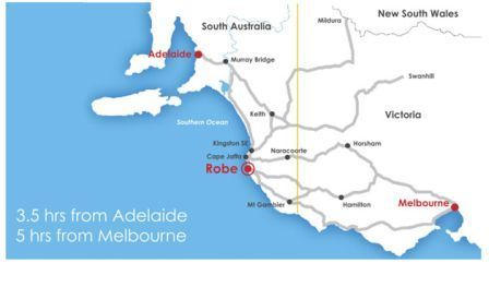 South Australia - District Council of Robe - located on the Limstone Coast south off Adelaide