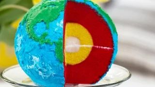 earth layers cake - YouTube