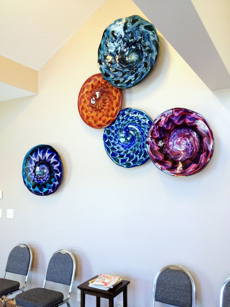 plates wall by scott hartley infinity art glass