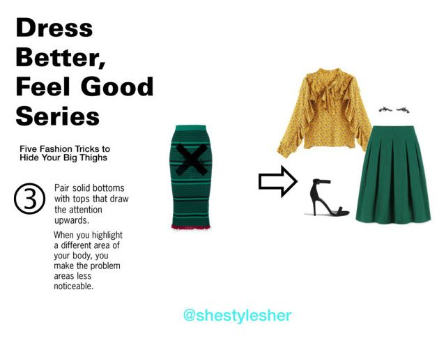 """""""Dress Better, Feel Good Series: 5 Fashion Tricks to Hide Your Big Thighs"""" by shestylesher on Polyvore featuring Kenzo, Uniqlo and Forever 21"""