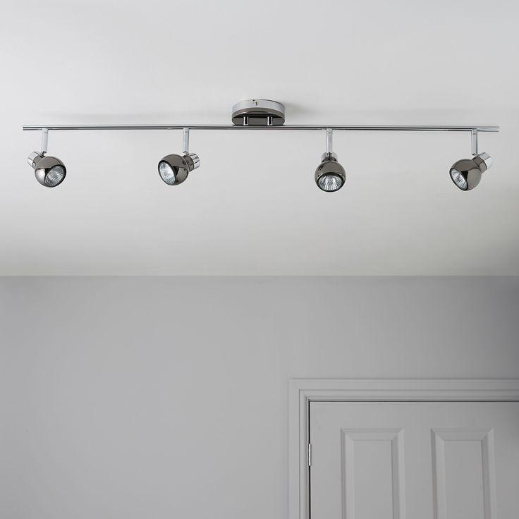 Diablo pearl black nickel chrome effect 4 lamp bar spotlight black pearls spotlightkitchen