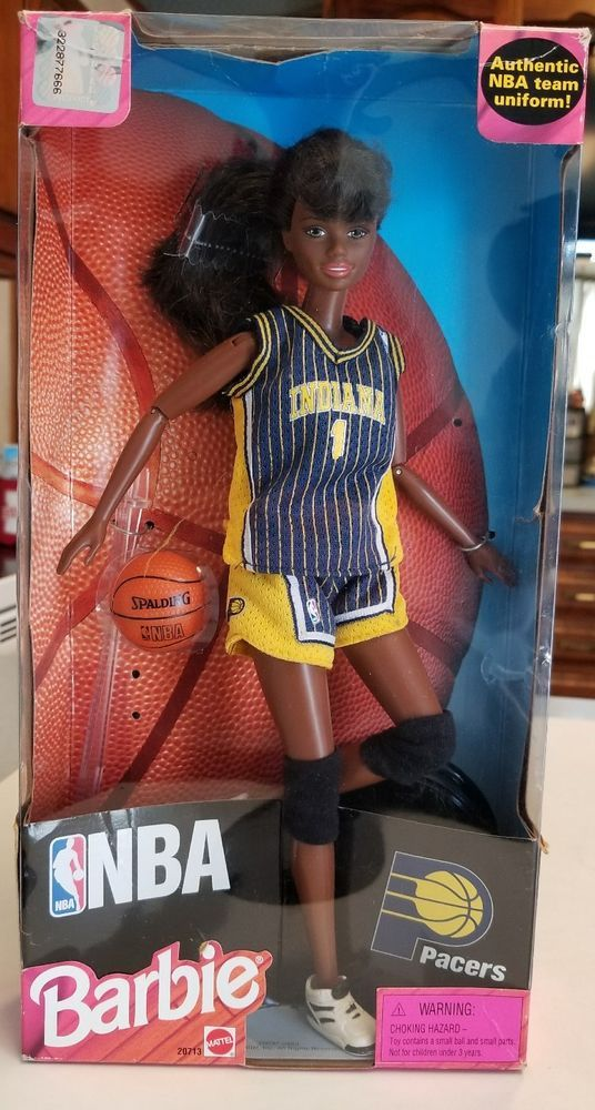 1998 Indiana Pacers NBA Vintage African American Barbie Doll In Box! Rare! #Mattel #DollWOSocksJacket
