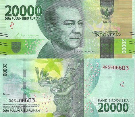 Indonesia 20000 Rupiah 2016