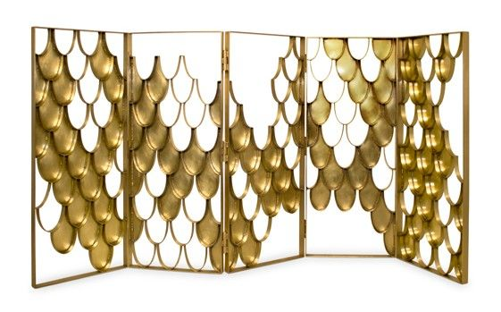 Koi folding screen, a contemporary design by @brabbu | more inspiring images at http://diningandlivingroom.com/category/living-room-furniture/