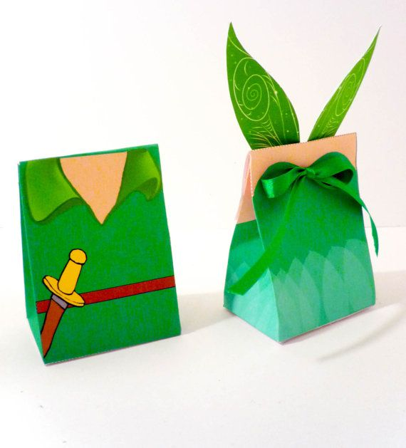 Tinkerbell Pixie Fairy Printable Party Treat Box by OpalandMae, 3.50