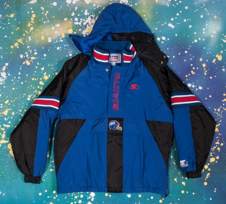 New York GIANTS Football Starter Jacket Size XL by metropolistshirts on Etsy https://www.etsy.com/listing/273782064/new-york-giants-football-starter-jacket