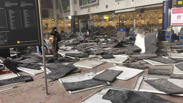 Two explosions hit Brussels airport  At least 13 people were killed, 35 injured