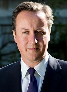 David Cameron (1966 - ) a British politician who has served as the Prime Minister of the United Kingdom since 2010, as Leader of the Conservative Party (Tories, Tory Party) since 2005 and as the Member of Parliament (MP) for Witney since 2001