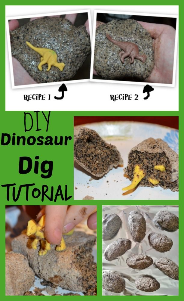 DIY Make your Own Dinosaur Egg Dig Tutorial - such an easy recipe to make your own dino eggs using coffee grinds! Perfect for birthday parties and hands on Montessori activities.