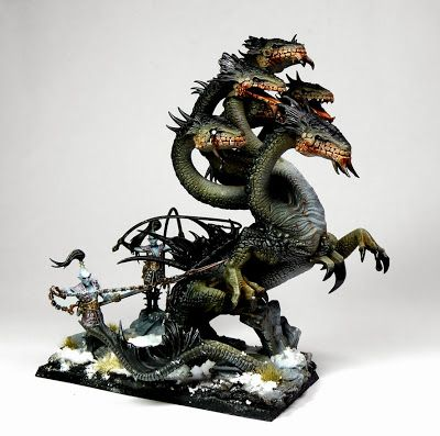 Tale of Painters: Showcase: Dark Elves War Hydra