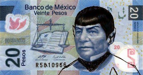 Homenaje a Spock en billetes de 20