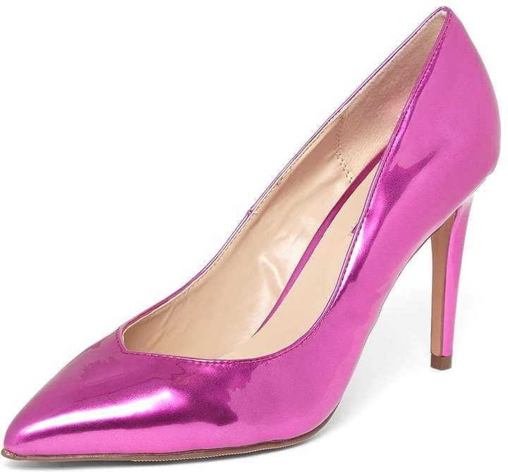 Pink Metallic 'Evie' Court Shoes
