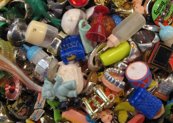 Gumball machine charms and toys60S