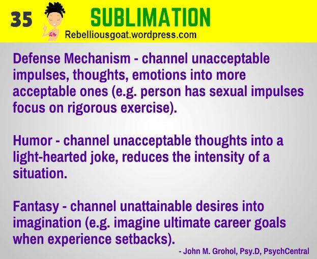 Psychology # 35 :Sublimation