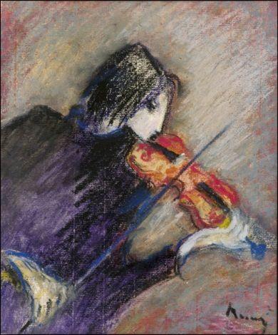 Viulunsoittaja by Elvi Maarni
