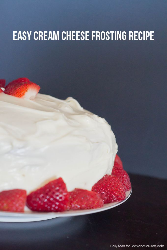 Easy Cream Cheese Frosting Recipe @Ana Maranges Martin Holly Days for @Stephanie Close Ellison Vanessa Craft
