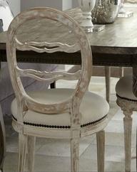 Swedish Chair available @coachbarn.com and a mahogany table is the epitome of lights meets dark!  #coachbarn