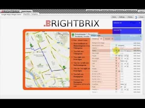 A BRIGHTBRIX GLIMPSE 001 - Google Maps Widget Demo with BRIGHTBRIX