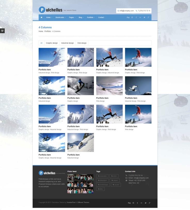 Pulchellus - Responsive 4 Seasons Theme #wordpress #theme #website #template #responsive #design #webdesign #flat #flatdesign