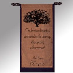 Einstein 'The Definition of Insanity' Cotton Scroll, Handmade in Indonesia