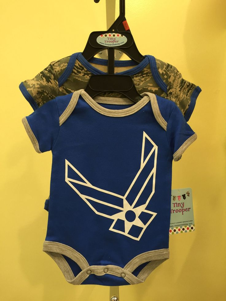 Infant / Baby Air Force ABU Camo Bodysuits 2pk Blue