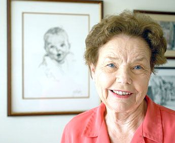The original Gerber baby now..in her 80's - Imgur It's in the eyes & blows