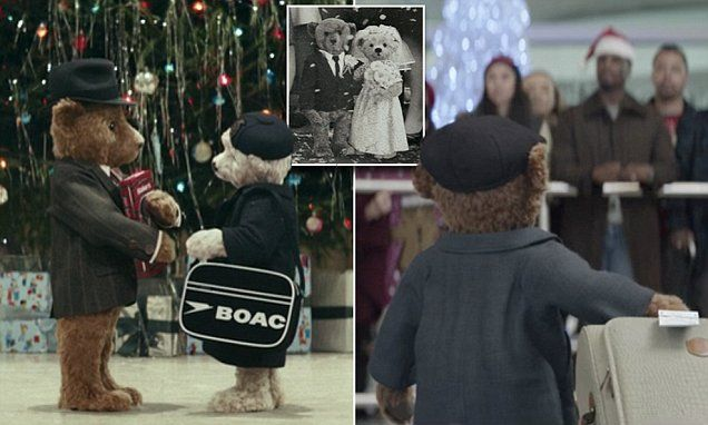 Heathrow Airport releases tear-jerking Christmas bear ad