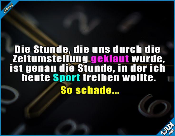 Immer kommt was dazwischen… :P #Zeitumstellung #Uhrumstellung #Stunde #Humor #Sprüche #lustigeSprüche #Statusbilder – Elisa F.
