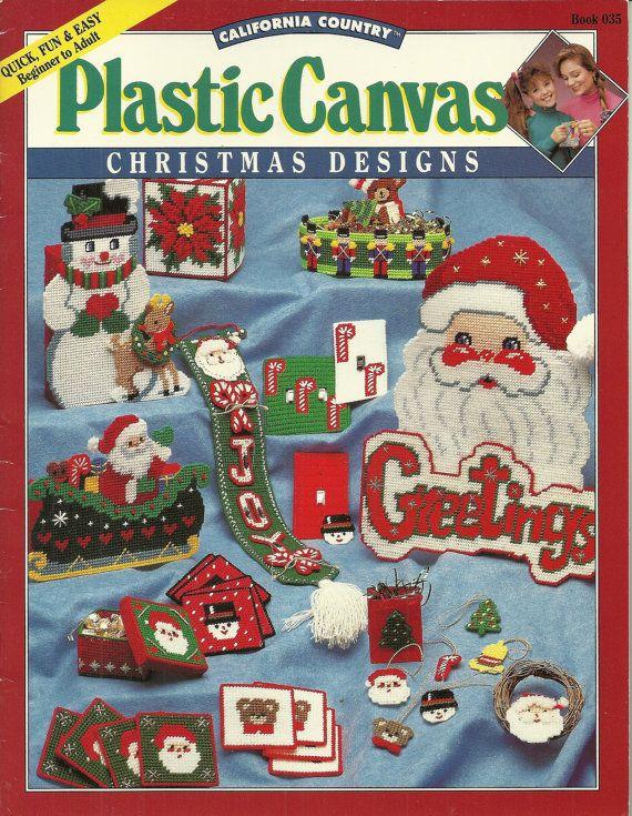 Plastic Canvas Christmas Designs Santa Claus by debspatterns55, $3.00