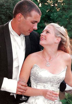 Melissa Joan Hart and Mark Wilkerson at Their Wedding on July 19, 2004, in Florence, Italy