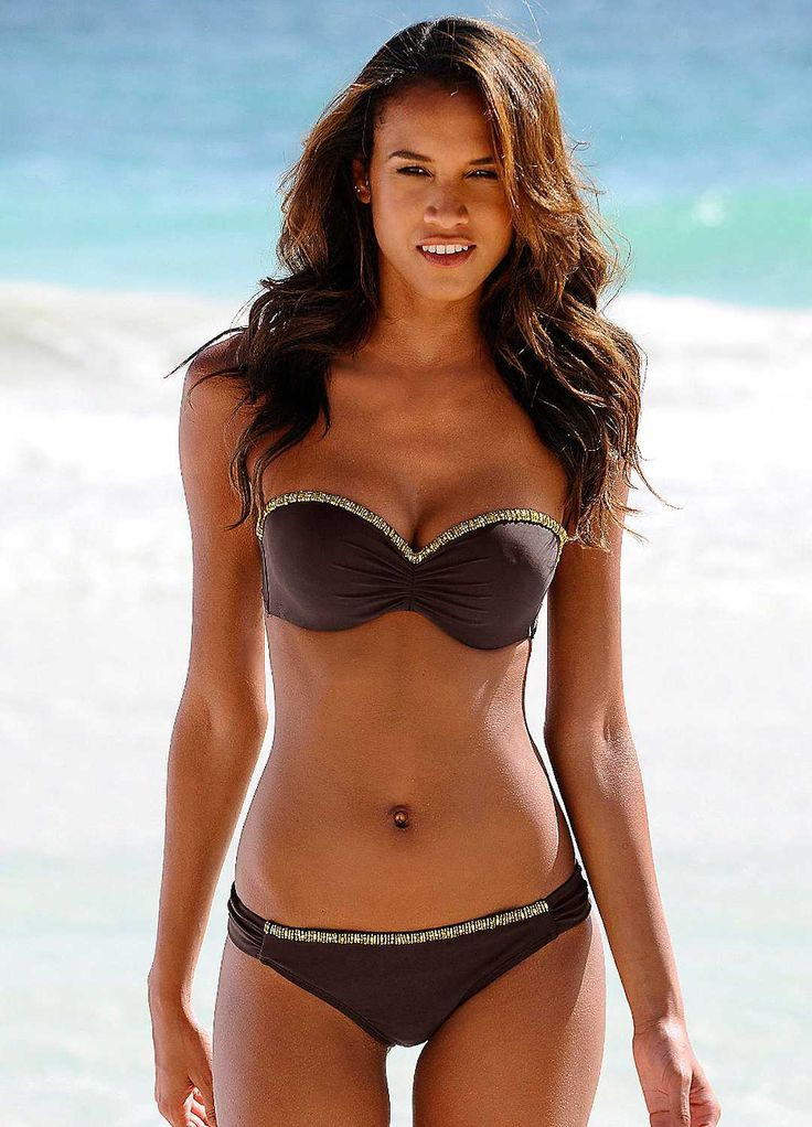 LASCANA Brown Underwired Bandeau Bikini