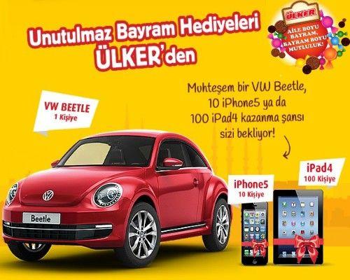 Ülker Bayram Kampanyası Volkswagen Beetle Çekilişi - www.ulkerdenbayramhediyesi.com http://www.kampanya-tv.com/2013/07/ulker-bayram-kampanyas-volkswagen.html