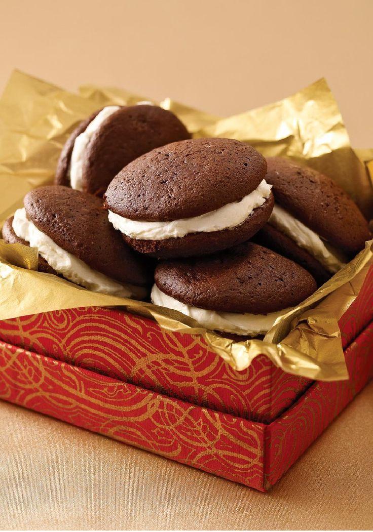 Triple-Chocolate Whoopie Pies -- If they like chocolate whoopie pies ...