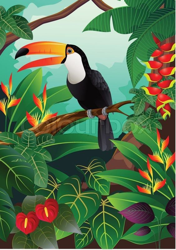Stock vector of 'vector illustration of Tropical bird'