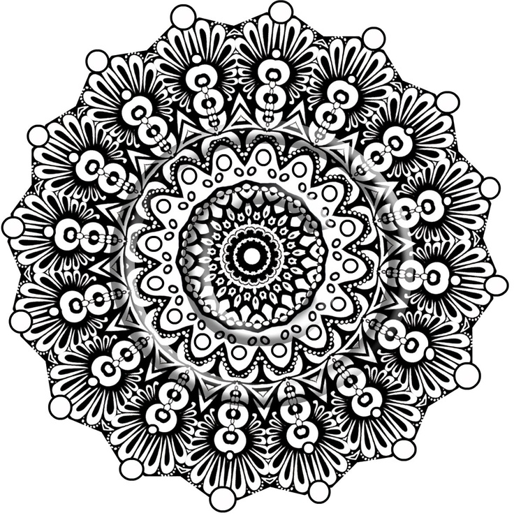 284 best Mandalas images on Pinterest Mandala coloring Coloring