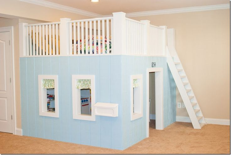 Basement Playroom- top is for sleepovers. So fun. How about a castle?