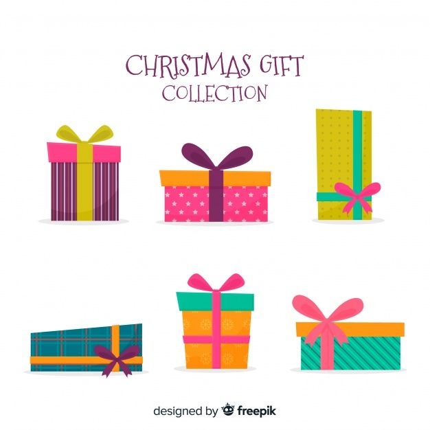 Download Colorful Christmas Gift Collection With Flat Design For Free Christmas Graphic Design Christmas Gift Vector Gift Collections