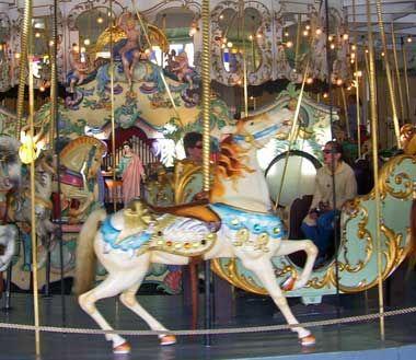 Crescent Park carousel in East Providence, Rhode Island - photo © Daniel Case on Wikipedia