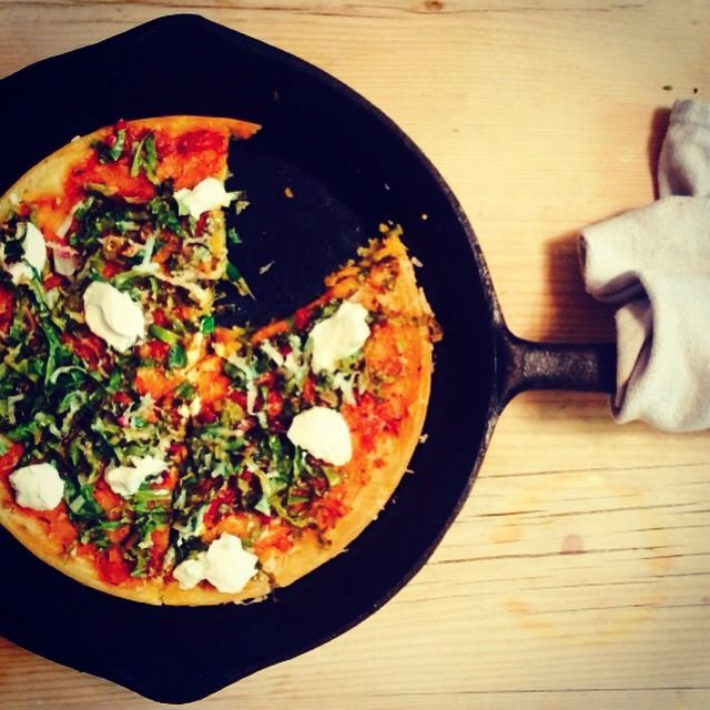 Gram flour pizza base - gluten free and packed with protein