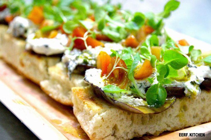 e.e.r.f kitchen: Grilled Eggplant Bruschetta