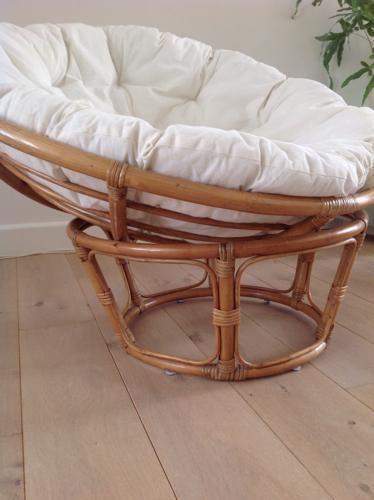 Rotan, retro, vintage, relax fauteuil jaren 70  - € 30,00
